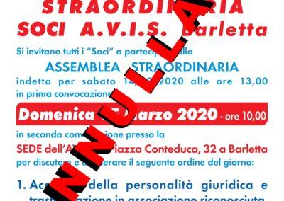 assemblea straordinaria 2020 annullata